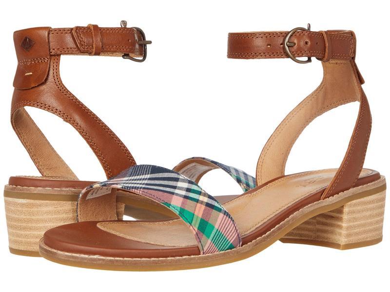 スペリー レディース ヒール シューズ Seaport City Sandal Ankle Strap Woven Leather Cathay Spice/Ki