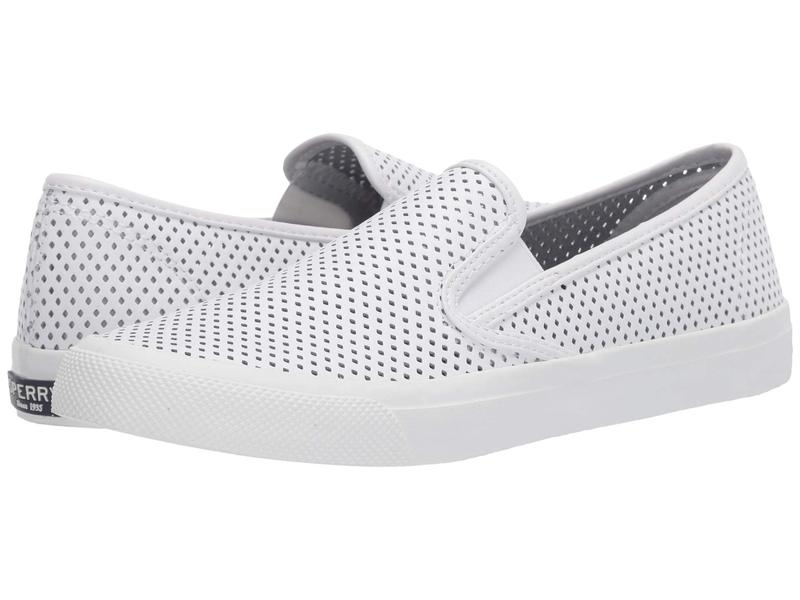 スペリー レディース スニーカー シューズ Seaside Perf Leather White