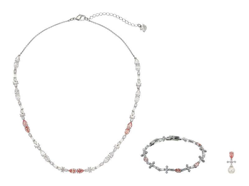 スワロフスキー レディース ネックレス・チョーカー・ペンダントトップ アクセサリー Perfection Necklace Set Light Multi/Pin