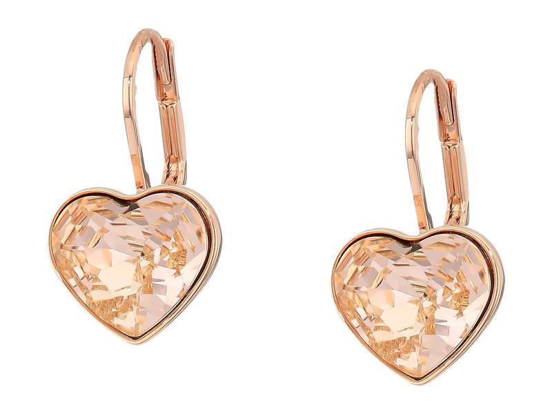 スワロフスキー レディース ピアス・イヤリング アクセサリー Bella Heart Pierced Earrings Silk/Pink