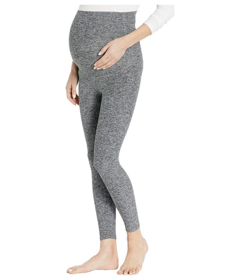 ビヨンドヨガ レディース カジュアルパンツ ボトムス Maternity Empire Waisted Capri Leggings Black/White Spa