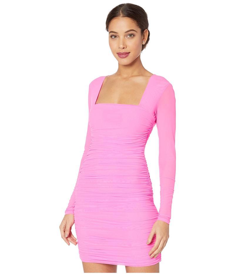バードット レディース ワンピース トップス Tasha Mesh Dress Pink Shock