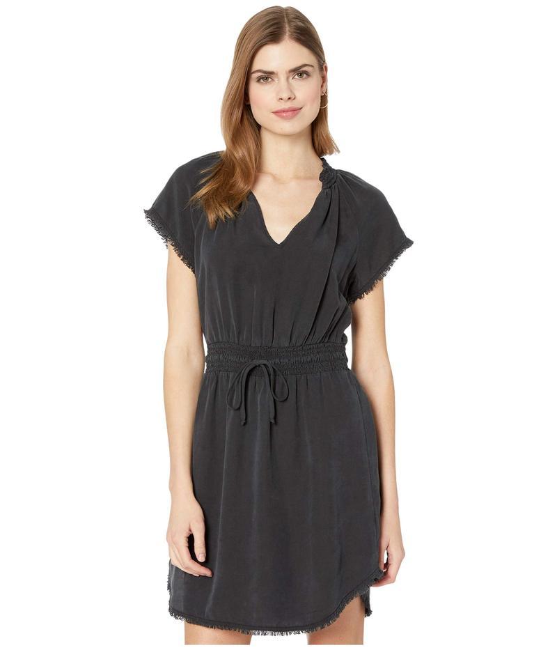 ベラダール レディース ワンピース トップス Short Sleeve Smocked Waist Dress Black