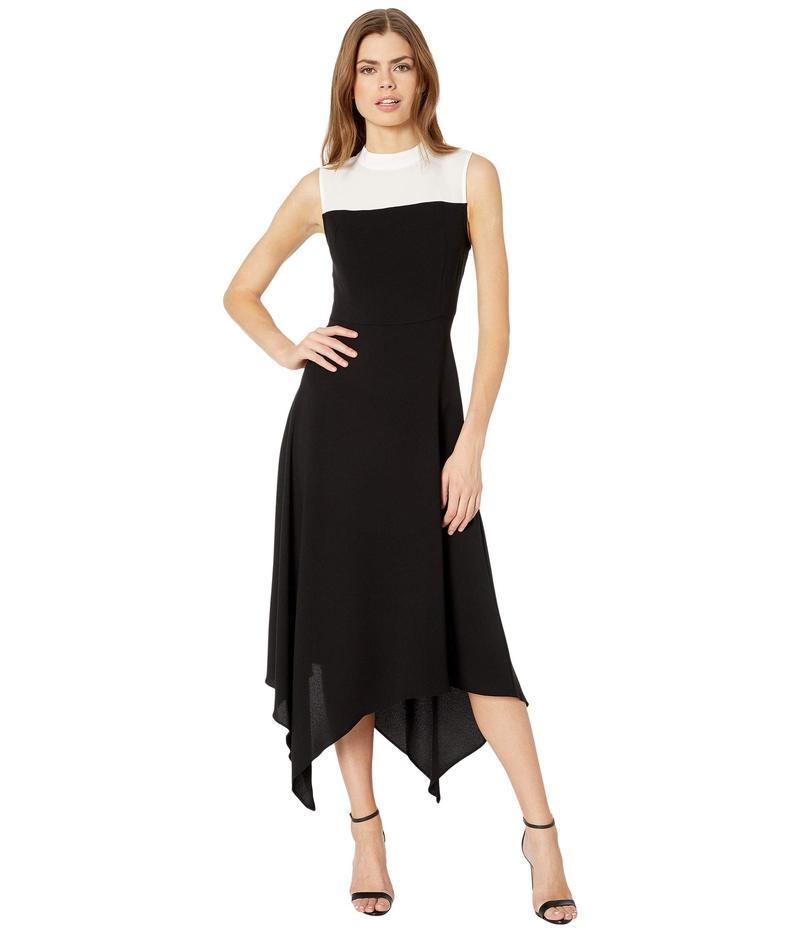 ビーシービージーマックスアズリア レディース ワンピース トップス Color-Block Dress Black