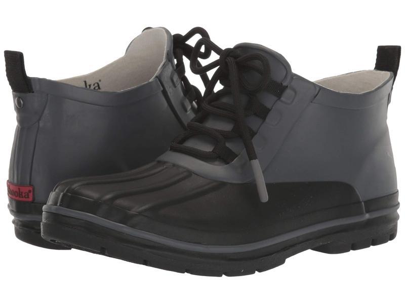 チョーカ レディース ブーツ・レインブーツ シューズ Lace-Up Duck Boot Black