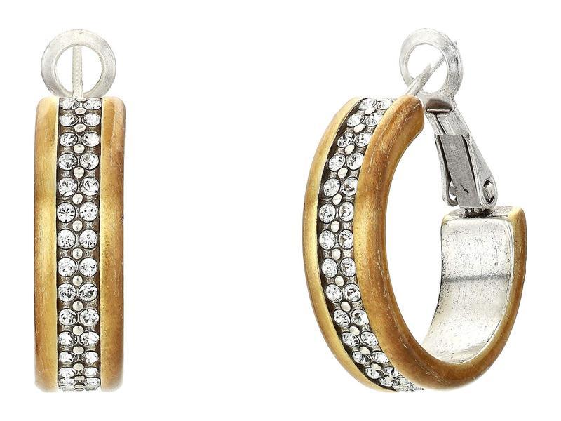 ブライトン レディース ピアス・イヤリング アクセサリー Meridian Two-Tone Hoop Earrings Silver/Gold