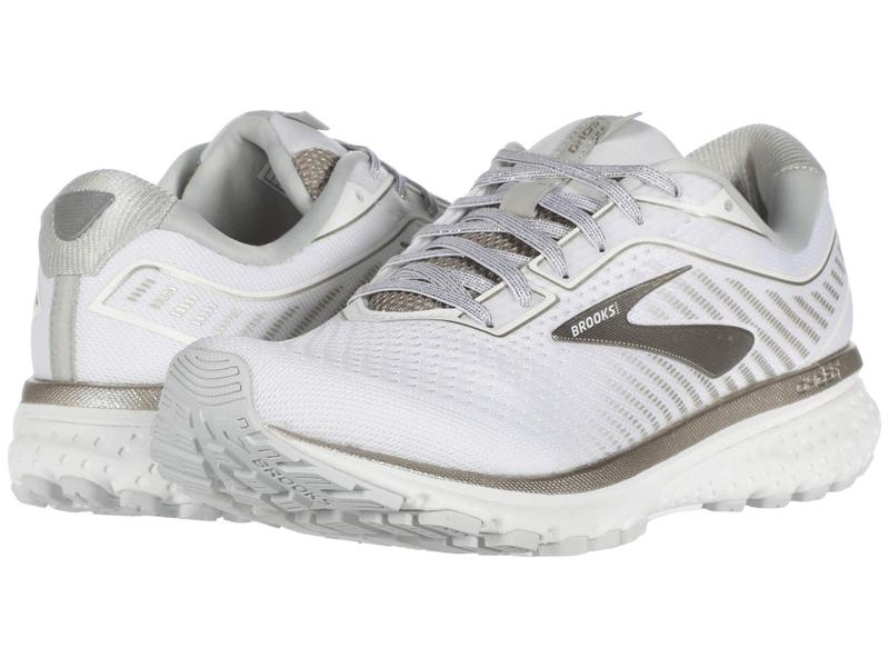 ブルックス レディース スニーカー シューズ Ghost 12 White/Grey/Cham