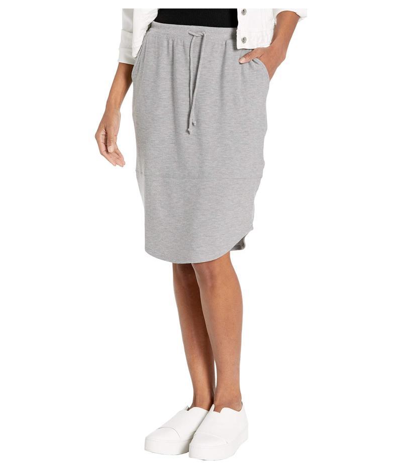 チェイサー レディース スカート ボトムス Cozy Knit Shirttail Midi Skirt Heather Grey