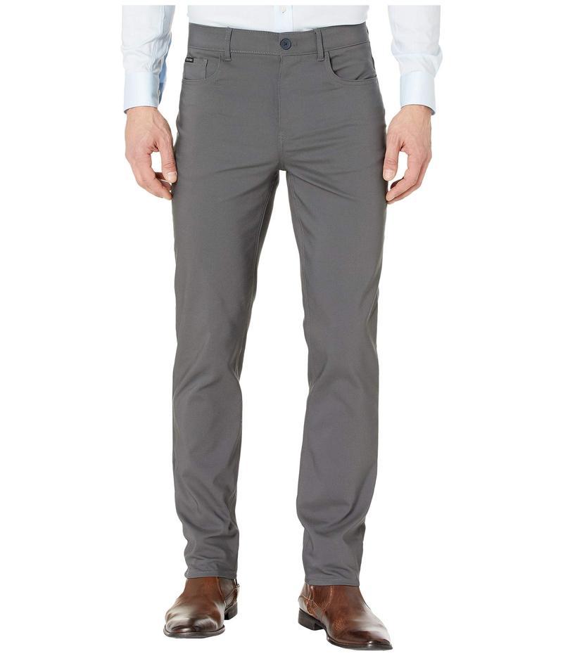 カルバンクライン メンズ カジュアルパンツ ボトムス Tech Woven Five-Pocket Casual Pants Grey Pinstripe