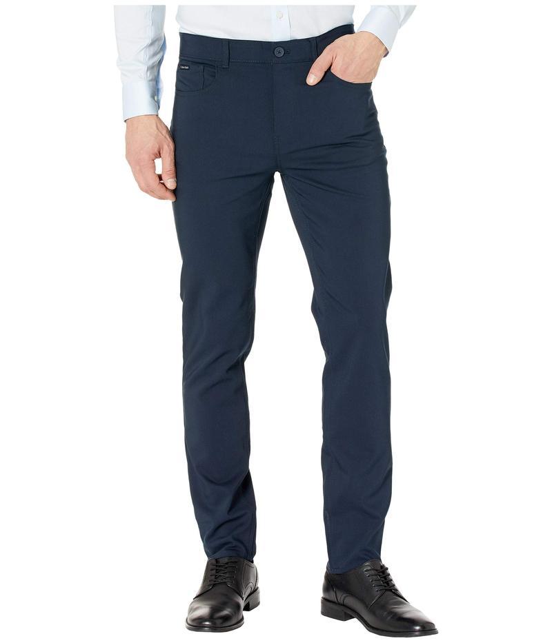 カルバンクライン メンズ カジュアルパンツ ボトムス Tech Woven Five-Pocket Casual Pants Sky Captain