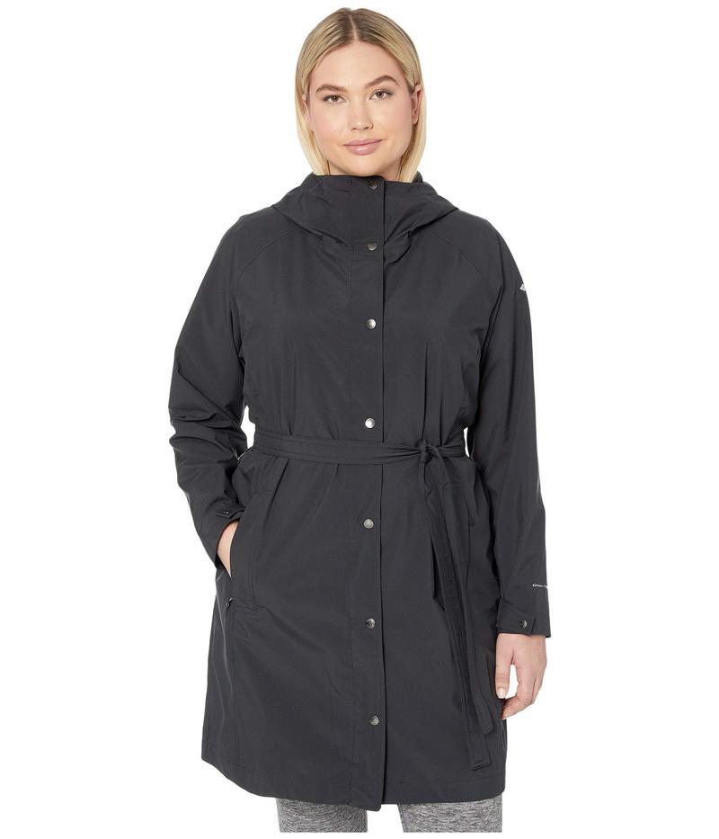 コロンビア レディース コート アウター Plus Size Here and There¢ Long Trench Jacket Black