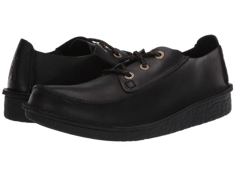 クラークス メンズ オックスフォード シューズ Trek Veldt Black Leather