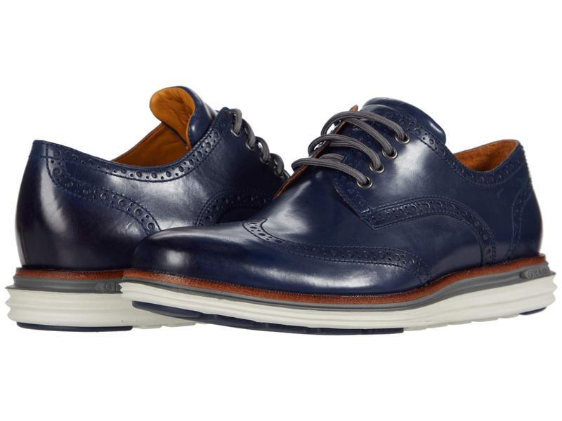 コールハーン メンズ オックスフォード シューズ Original Grand Wing Ox Luxury Marine Blue Lea