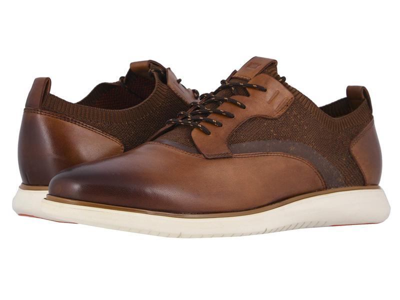 フローシャイム メンズ オックスフォード シューズ Fuel Knit Plain Toe Oxford Scotch Smooth/W