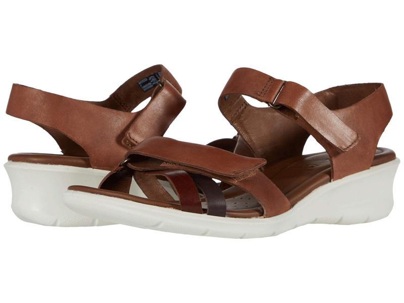エコー レディース ヒール シューズ Felicia Ankle Strap Sandal Brandy/Coffee/M