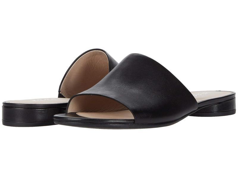 エコー レディース サンダル シューズ Flat Sandal II Slide Black Cow Leath