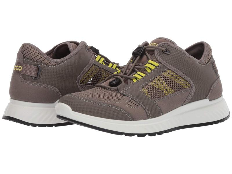 エコー メンズ スニーカー シューズ Exostride Summer Trail Sneaker Warm Grey/Sulph