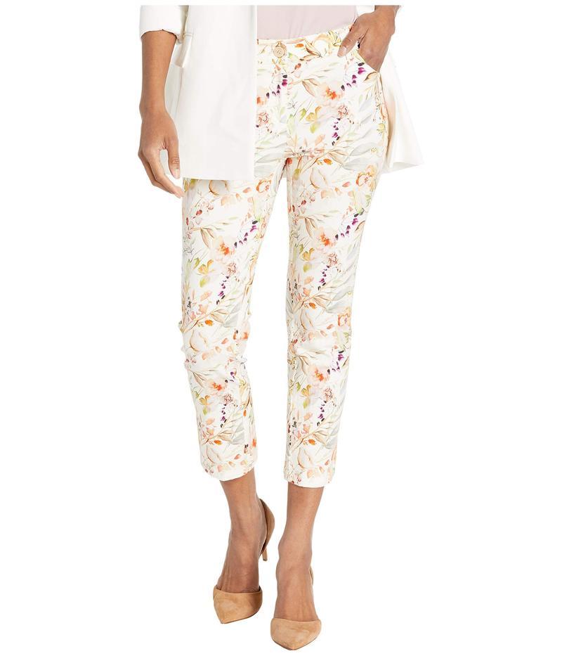 エリオットローレン レディース デニムパンツ ボトムス Garden Path Five-Pocket Floral Print Crop Jeans in Natural Multi Natural Multi