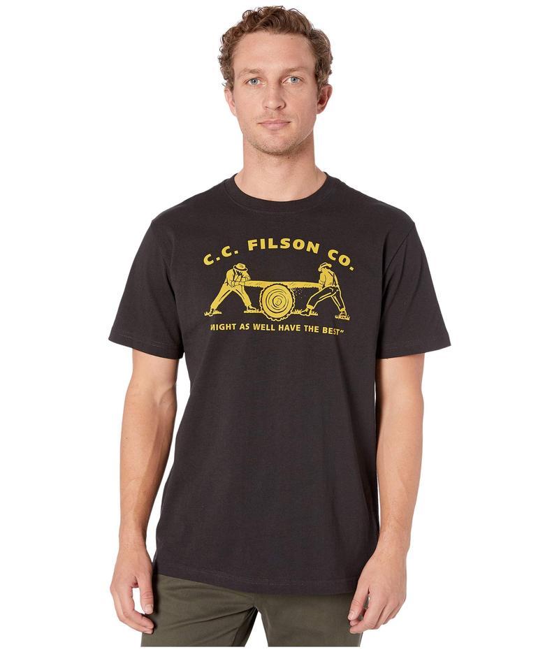 フィルソン メンズ シャツ トップス Short Sleeve Outfitter Graphic T-Shirt Faded Black Tea