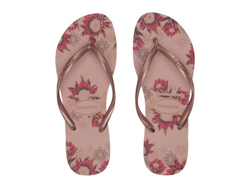 ハワイアナス レディース サンダル シューズ Slim Organic Flip Flops Ballet Rose