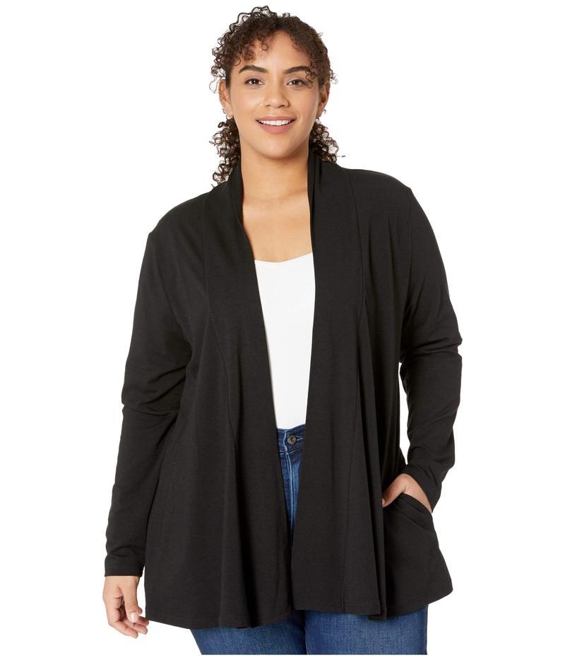 フレッシュプロデュース レディース ニット・セーター アウター Plus Size Cleo Cardigan with Pockets Black
