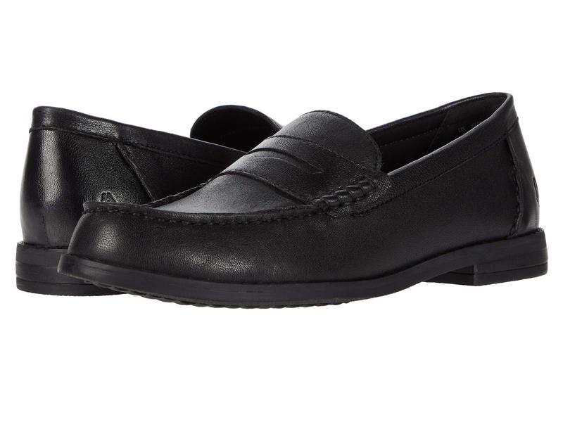 ハッシュパピー レディース スリッポン・ローファー シューズ Wren Loafer PF Black Leather