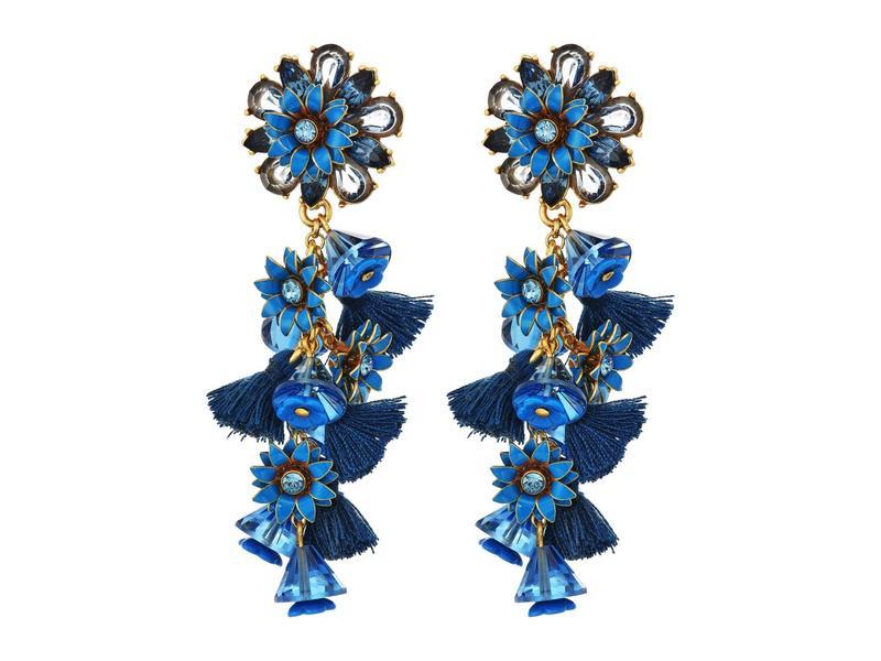 ジェイクルー レディース ピアス・イヤリング アクセサリー Bloom Flower Statement Earrings Prussian Blue