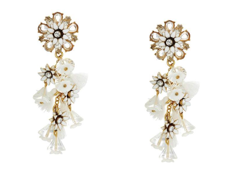 ジェイクルー レディース ピアス・イヤリング アクセサリー Bloom Flower Statement Earrings Crystal