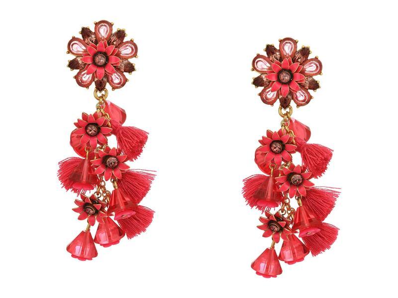 ジェイクルー レディース ピアス・イヤリング アクセサリー Bloom Flower Statement Earrings Soft Fuchsia