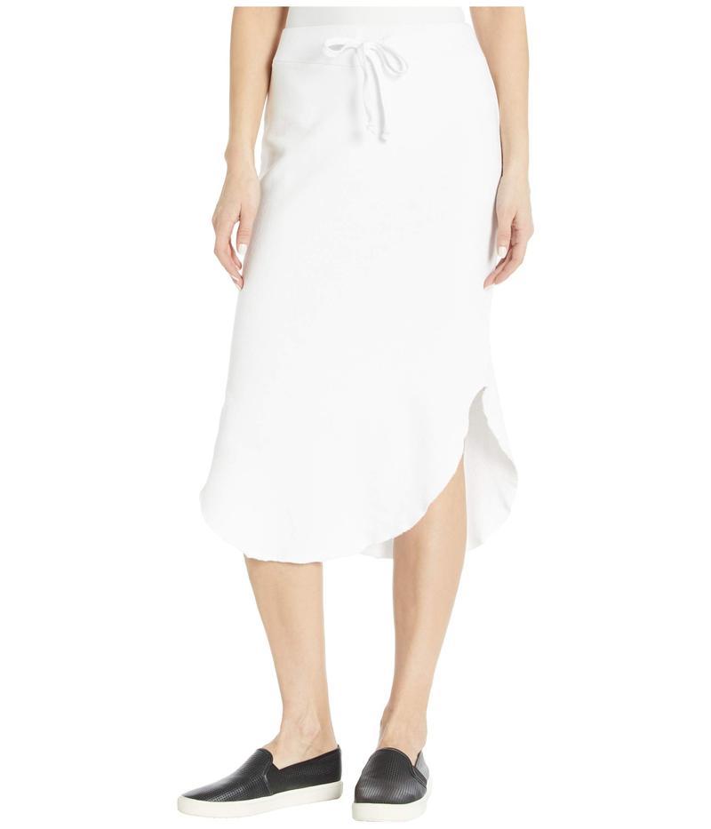 ラメイド レディース スカート ボトムス Brenna Modal/Cotton Fleece Skirt White
