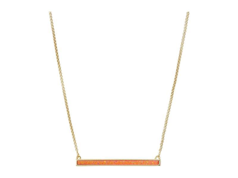 ケンドラスコット レディース ネックレス・チョーカー・ペンダントトップ アクセサリー Kelsey Necklace Gold/Coral Opal
