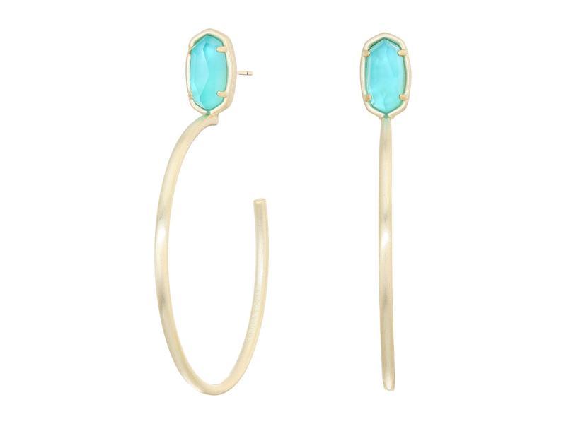 ケンドラスコット レディース ピアス・イヤリング アクセサリー Small Stone Pepper Earrings Gold/Aqua Illus