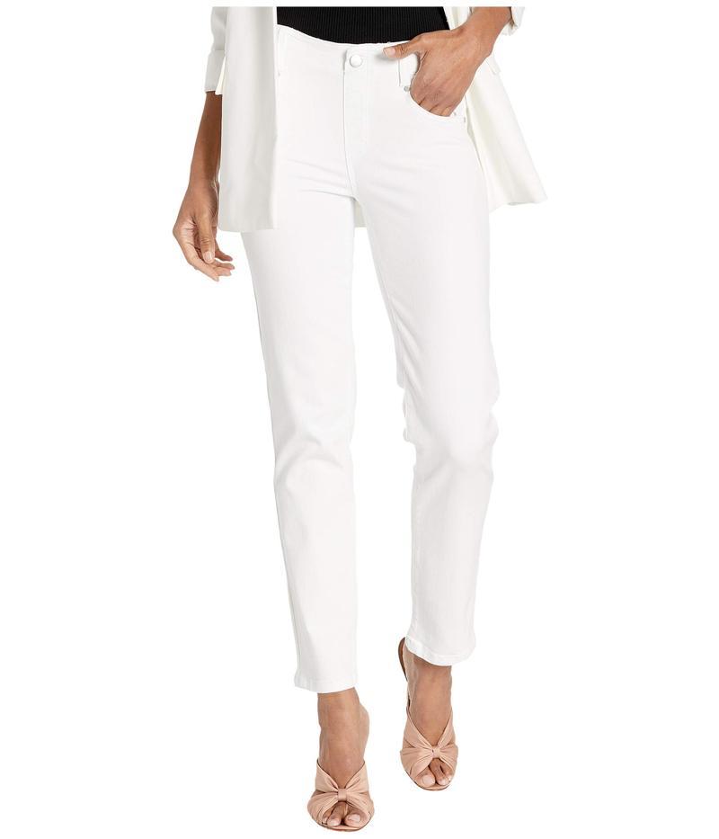 リバプール レディース デニムパンツ ボトムス Gia Glider Slim in Bright White Bright White