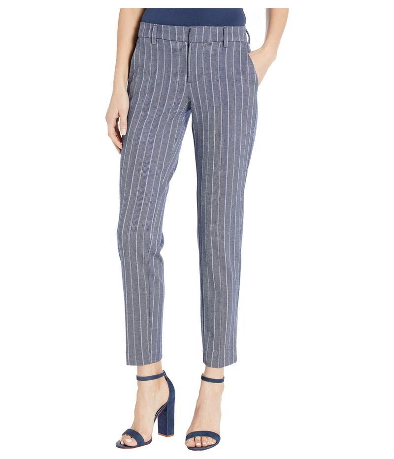 リバプール レディース カジュアルパンツ ボトムス Kelsey Knit Trousers in Novelty Print Blue/White Herr