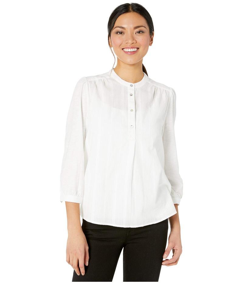 ラッキーブランド レディース シャツ トップス Long Sleeve Button-Up Woven Mix Top Lucky White