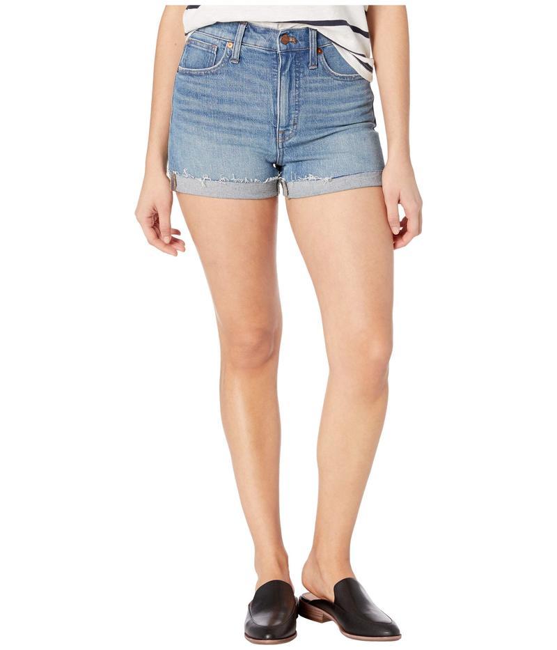 メイドウェル レディース ハーフパンツ・ショーツ ボトムス High-Rise Denim Shorts in Malden Wash Malden Wash