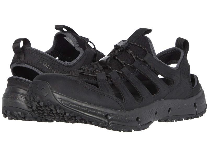 メレル メンズ スニーカー シューズ Hydrotrekker Leather Sieve Black