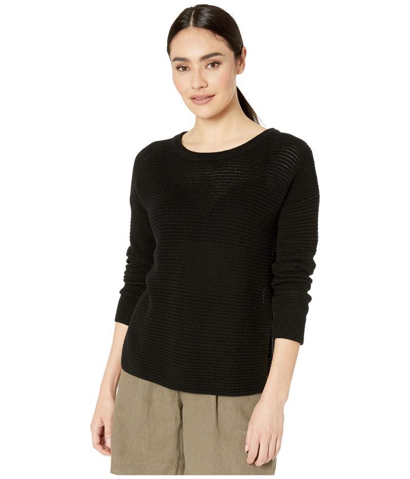 マイケルスターズ レディース ニット・セーター アウター Paige Long Sleeve Scoop Neck Pullover Cotton Sweater Black