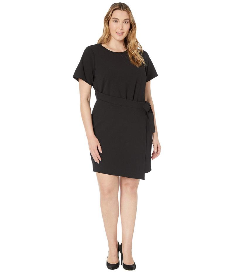 マイケルコース レディース ワンピース トップス Plus Size T-Shirt Wrap Dress Black
