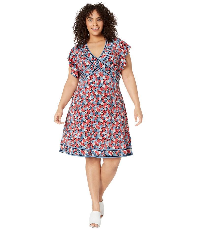 マイケルコース レディース ワンピース トップス Plus Size Hothouse Mini Dress Coral Peach