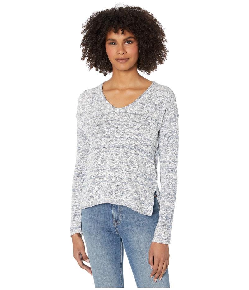 マイケルスターズ レディース ニット・セーター アウター Phoebe Soft V-Neck Pullover Capri Sweater Admiral Marl