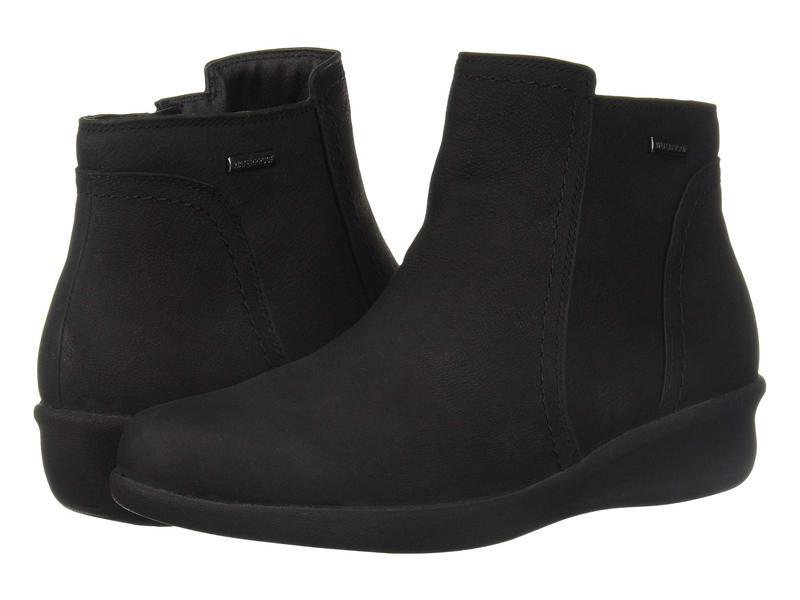 アラヴォン レディース ブーツ・レインブーツ シューズ Fairlee Waterproof Ankle Boot Black Nubuck