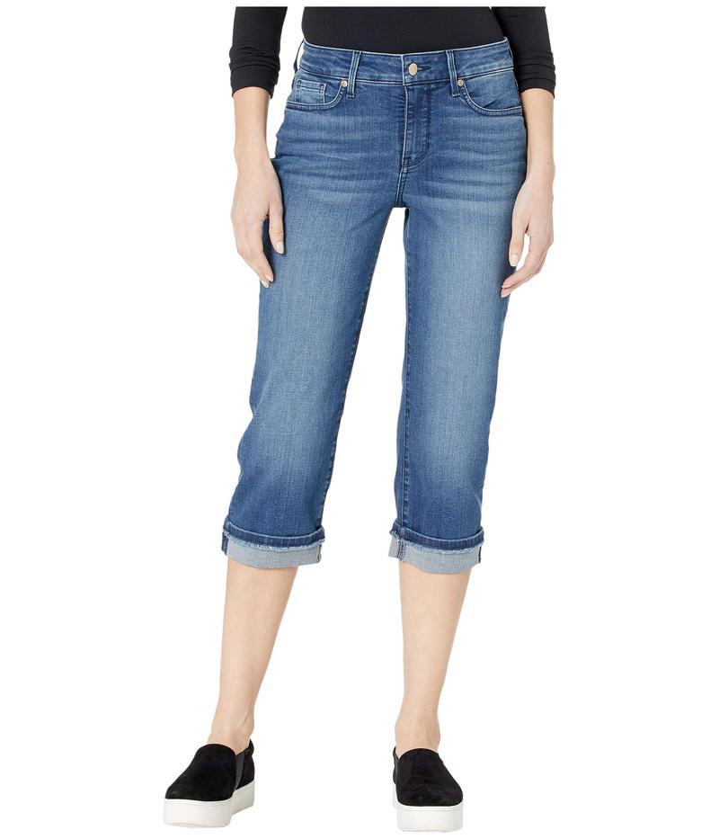 エヌワイディージェイ レディース デニムパンツ ボトムス Marilyn Crop Jeans with Frayed Cuffs in Meloy Meloy