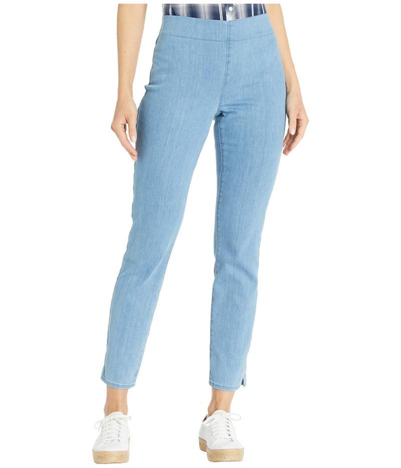 エヌワイディージェイ レディース デニムパンツ ボトムス Pull-On Skinny Ankle Jeans with Side Slits in Belle Isle Belle Isle