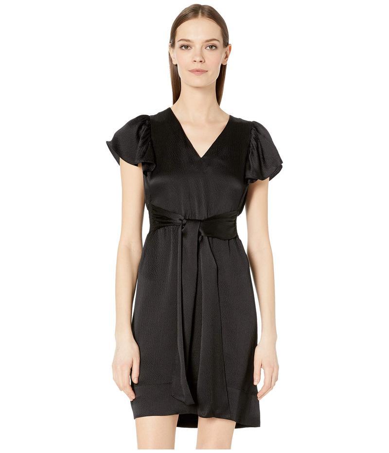 レベッカテイラー レディース ワンピース トップス Sleeveless Silk V-Neck Dress Black