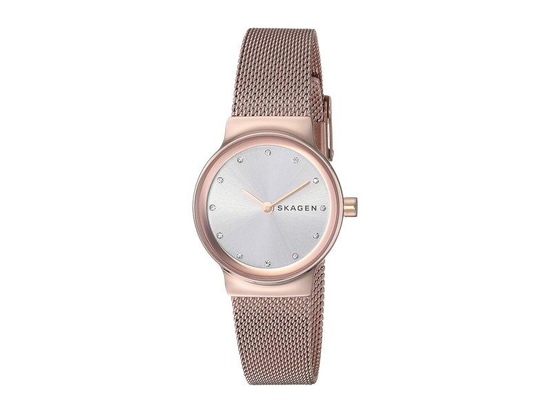 スカーゲン レディース 腕時計 アクセサリー Freja Two-Hand Stainless Steel Mesh Watch SKW2665 Rose Go