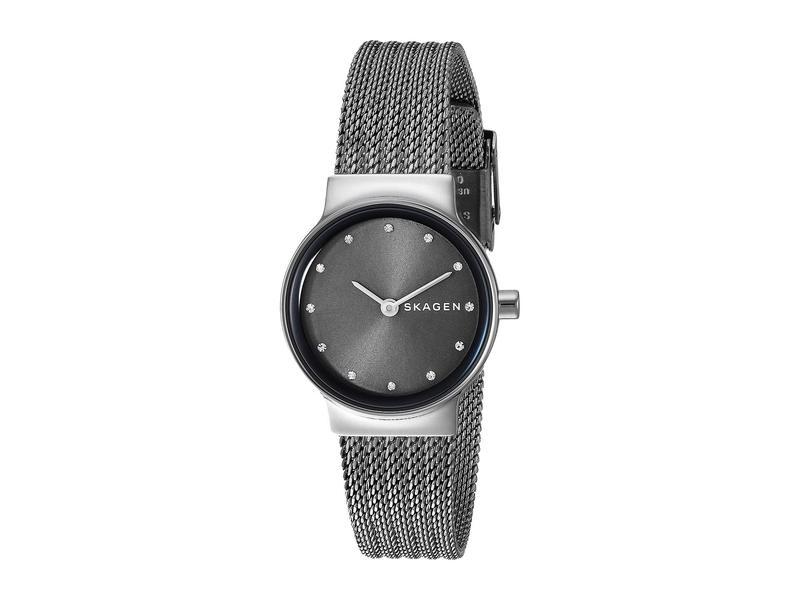 スカーゲン レディース 腕時計 アクセサリー Freja Two-Hand Stainless Steel Mesh Watch SKW2700 Dark Gr