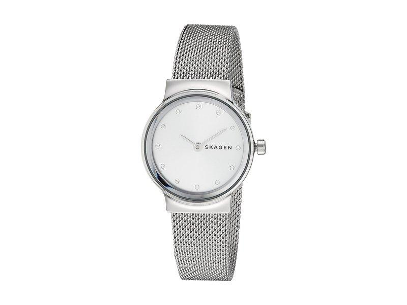 スカーゲン レディース 腕時計 アクセサリー Freja Two-Hand Stainless Steel Mesh Watch SKW2715 Silver