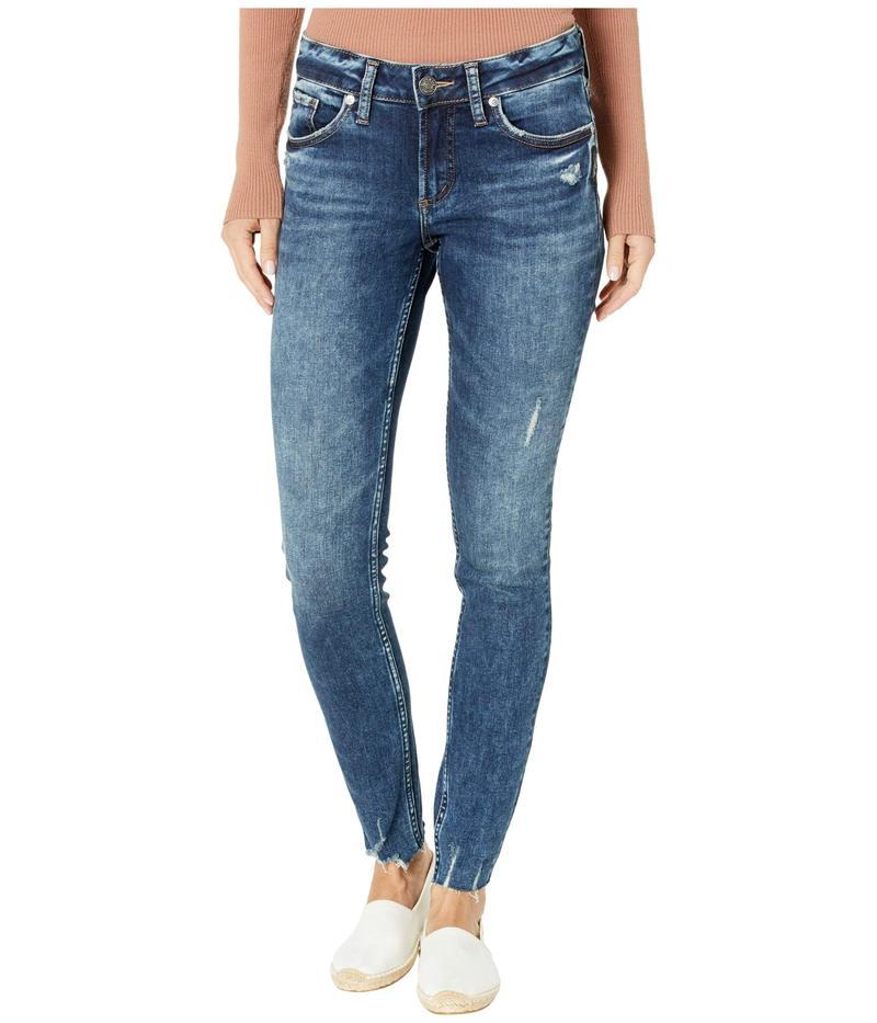 シルバー ジーンズ レディース デニムパンツ ボトムス Elyse Mid-Rise Curvy Fit Skinny Jeans L03116SSX347 Indigo
