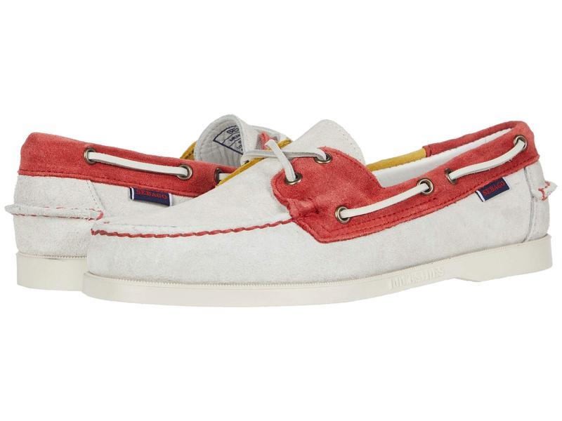 セバゴ メンズ デッキシューズ シューズ Portland Jibs Flags Off-White/Red/Y
